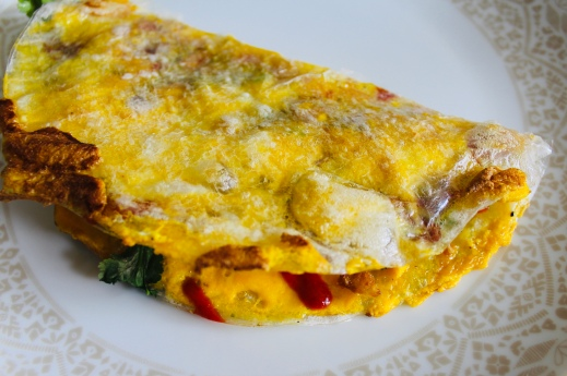 Or fold it over like an omlette